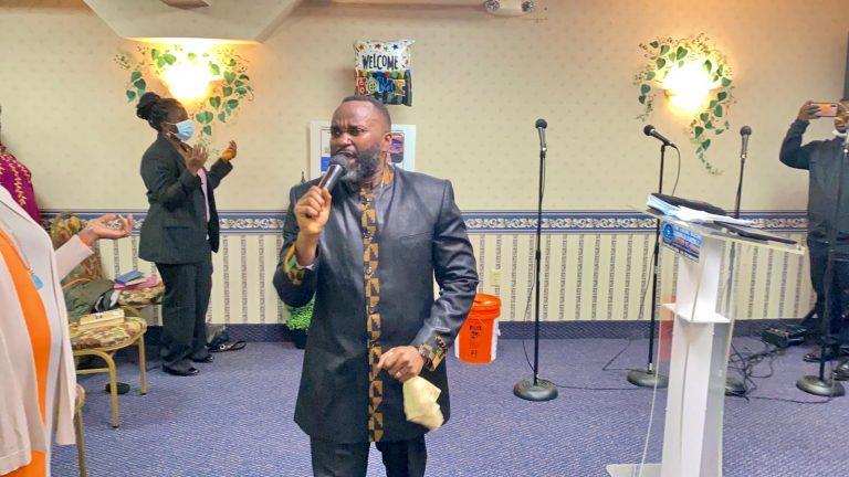 Rev. GoodMerc Preaching